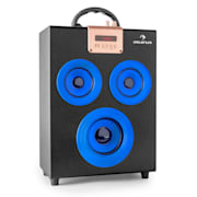 Central Park Portable 2.1 Bluetooth Speaker USB SD Blue Blue