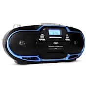 CMP-574 Boombox CD MP3 USB Cassette Recorder AM/FM Radio Blue