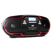 CMP-574, boombox s CD, MP3, USB, kazetovým prehrávačom, FM/AM-tunerom, červený