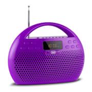 KB 308 BT Radio Digital Boombox Bluetooth USB microSD violett