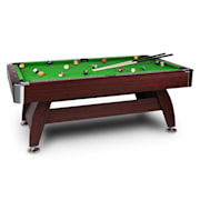 Brighton Pool Table 7 Ft (122x82x214 cm) Accessories Set Green