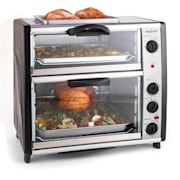 All-You-Can-Eat dubbel bakugn med grillplatta 42 liter2400 W