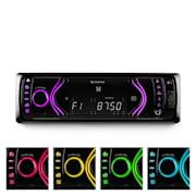 Аuna MD-130 авто радио Bluetooth SD USB AUX RDS 7 избора на цвят Черно
