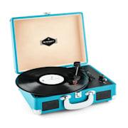 Peggy Sue retro-platenspeler LP USB blauw Blauw