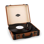 Jerry Lee retro-skivspelare LP USB brun Brun