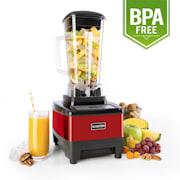 Klarstein Herakles-4G-E, 1500 W, 2 liter, asztali mixer, piros, zöld smoothie, BPA nélkül Piros