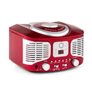 RCD320 Retro CD Player FM AUX Red Red