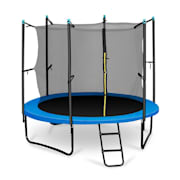 Rocketboy 250 Trampoline 8ft Safety Net Inside, Wide Ladder, Blue Blue | 250 cm