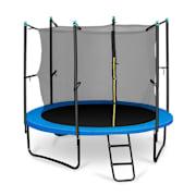 Rocketboy 250, 250 cm trampolína, vnútorná bezpečnostná sieť, široký rebrík, modrá Modrá | 250 cm