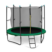Rocketstart 366 Trampoline 250cm Safety Net, Wide Ladder - Green Green | 250 cm
