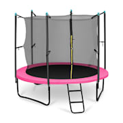 Rocketgirl 250 Trampoline 8ft Safety Net Inside, Wide Ladder, Pink Pink | 250 cm