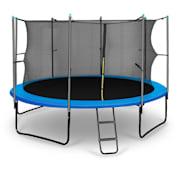 Rocketboy studsmatta 366cm säkerhetsnät på insidan, bred stege, blå blå | 366 cm