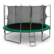 Rocketstart 366 Trampoline 12ft Safety Net Inside, Wide Ladder - Green Green | 366 cm