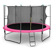 Rocketgirl 366 Trampoline 250cm Filet de sécurité échelle large rose Rose Pourpre | 366 cm