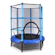 Rocketkid, 140 cm trampolin, unutarnja sigurnosna mreža, bungee opruge, plava Plava