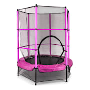 Rocketkid Trampoline 140cm Filet de sécurité rose Rose Pourpre