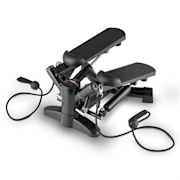 Powersteps Twist Stepper with Expander Arm Bands Black