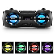 Soundblaster M Boombox 3.0 CD/MP3/USB FM effet LED 25W RMS 50W max