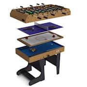 4 in 1, sklopiteľný hrací stôl pre 11 hier, hokej, futbal, biliard