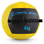Wallba 4 Wall Medicine Ball 4kg Leatherette yellow 4 kg