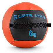 Wallba 6 Wall Medicine Ball 6kg Leatherette Orange 6 kg