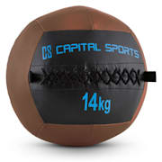 Wallba 14 Wall Medicine Ball 14kg Leatherette Brown 14 kg
