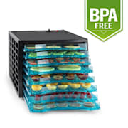 Fruit Jerky 8 voedseldroger dehydrator 630W 8 etages zwart 8 stages