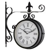 Paddington Vintage Стоманен, градински часовник в черен цвят