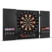 Dartmaster 180 Electronic Dartboard with Soft Tip Darts and Doors Black Black
