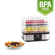 Valle di Frutta 5-Tiered Stainless Steel Food Dehydrator 250W Silver