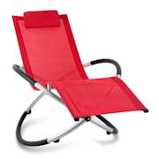CHILLY BILLY, crvena,vrtna relaksacijska ležaljka, aluminij Crvena