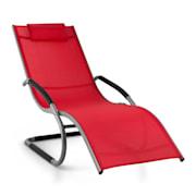SUNWAVE, crvena vrtna ležaljka, stolica za ljuljanje, relaksacija, ALUMINIJ Crvena
