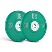Performan Urethane Plates, zelené, 10 kg, pár kotoučových závaží 2x 10 kg