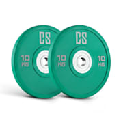 Performan Urethane Plates, zeleni, 10 kg, par kružnih utega 2x 10 kg