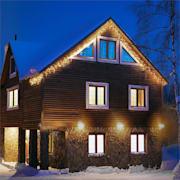 Dreamhouse Flash String Icicle Christmas Lights 8m 160 LED Warm White Flash Motion warm white | 8 m