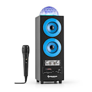 DiscoStar Blue Enceinte portable Bluetooth 2.1 USB SD UKW AUX LED -bleue Bleu