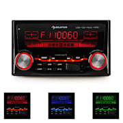 MD-200 2G Autoradio USB SD MP3 enregistrement radio 3 couleurs 4x75W Line-O