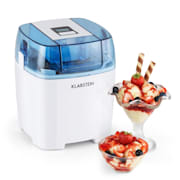 Creamberry Machine à glace Bac isotherme yaourt glacé 1,5l - blanche Blanc