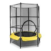 Rocketkid trampolin 140cm säkerhetsnät bungefjädring gul Gul