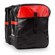 Yuka Double Pannier Bicycle Carrier Bag Waterproof 2 x 9L Black / Red