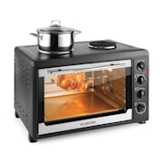 MasterChef 60 Mini Oven 2500W + 1600W 60 Litre Stainless Steel Black Black
