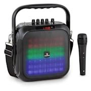 Big DAZZLE, bluetooth reproduktor, akumulátor, LED, včetně mikrofonu a dálkového ovládání