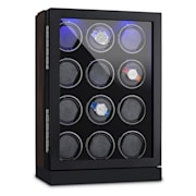 Klagenfurt Watch Winder Fits 12 Watches Right-Left Running LED Touch Display Pure Handmade