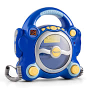 Pocket Rocker, modrý, karaoke systém s CD prehrávačom, Sing A Long, 2 mikrofóny, batérie Modrá