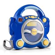 Pocket Rocker, albastru, sistem karaoke cu CD player, Sing a Long, 2 microfoane, baterii Albastru