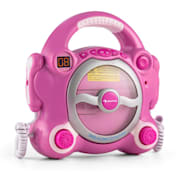 Pocket Rocker, růžový, karaoke systém s CD přehrávačem, Sing A Long, 2 mikrofony, baterie Růžová