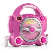 Pocket Rocker, roz, sistem karaoke cu CD player, Sing a Long, 2 microfoane, baterii Roz