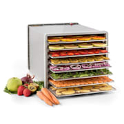 Fruit Jerky Steel 8 voedseldroger dehydrator 630W rvs 8 etages 8 stages