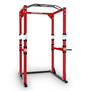 Tremendour Power Rack Home Gym Steel Red White Red | Without lat pull