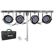 PARBAR 4-Way Kit 18 x 1 W RGB LEDs DMX with Transport Bag